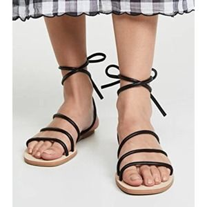 Cupcakes & Cashmere Strappy Sandals Ankle Tie 8.5